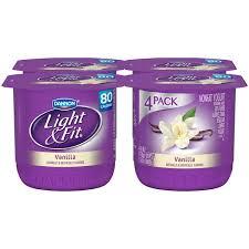 light and fit vanilla yogurt dannon light fit vanilla 6 oz light fit nonfat yogurt 6 oz