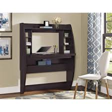 Walmart Computer Desk With Hutch by Altra Jace Wall Mounted Desk Espresso Walmart Com