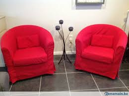 fauteuils rouges lot de 2 fauteuils ikea rouges a vendre 2ememain be