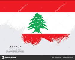 Pine Tree Flag Flag Of Lebanon Banner U2014 Stock Vector Igor Vkv 142978345