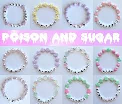 alphabet bracelets with pastel beads misfit by tiffanymamone