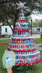 christmas tree made of recycled materials christmas lights