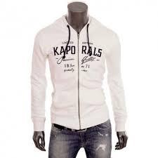 kaporal siege social sweat zippé à capuche kaporal frapeh blanc pour homme addict wear