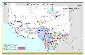Los Angeles District Map by California Corridor Mobility District 6