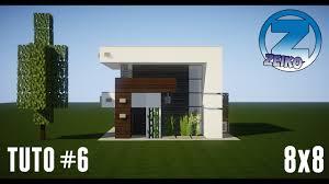 Maison Modern Minecraft by Tuto Minecraft 6 Maison Moderne 8x8 By Zeiko Youtube