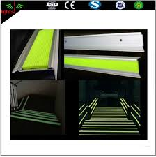 photoluminescent glow in the dark anti slip with reflective strips