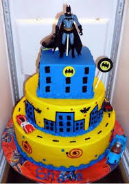 averys birthday cake idea batman spiderman and hulk cake