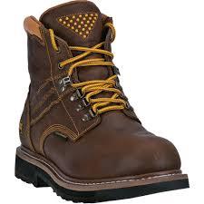 dan post mens brown gripper zipper st leather cowboy boots alloy