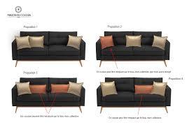 déco coussin canapé personnaliser un canapé gris foncé avec des coussins