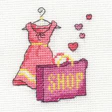 dmc mini cross stitch kits pink ribbon foundation hearts cupcakes