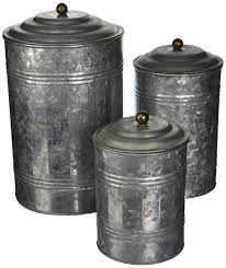 amazon com deco 79 metal galvanized canister 11 by 9 by 7 inch