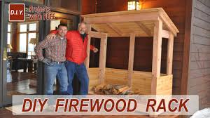 Diy Firewood Storage Shed Plans by How To Build A Firewood Rack Youtube