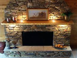 fake stone fireplace ideas mantel installing faux surround rock