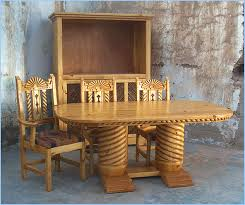 Southwest Dining Room Furniture Bear Creek Southwest Style Dining Set Tables Chairs China Cabinets