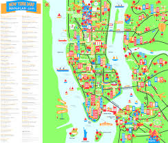 A Map Of New York by Map Of New York With Tourist Attractions Evenakliyat Biz