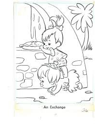 flintstones coloring book page 36 pebbles u0026 bamm bamm in steven
