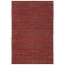 Damask Area Rugs Winnie Red Damask 5 Ft X 7 Ft 6 In Area Rug Win45508 576 The