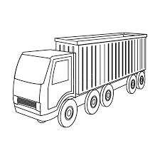 single delivery a large truck for the transport of goods transportation and