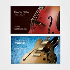 Business Card Music Musicians Business Card Set Vector Freevectors Net