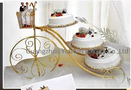 free fedex shipping bicycle shape 3 tier metal wedding cakes