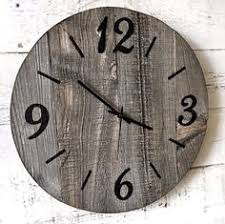 Unique Large Wall Clocks Rustic Barn Wood Clock Reclaimed Wood Clock Large Unique Wall