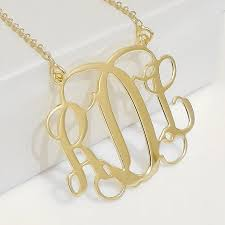 Gold Plated Monogram Necklace 39 Best Monogram Jewelry Images On Pinterest Monogram Jewelry
