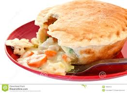 Pot Pie Variations by Chicken Pot Pie On Red Plate Stock Photography Image 13693312