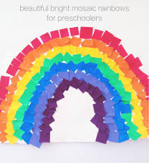 colourful mosaic rainbows weather crafts weather art and art
