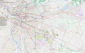 Lyon Metro Map by Lasi Trolleybus Routes