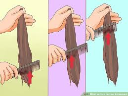 hairdo extensions how to care for hair extensions 14 steps with pictures