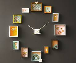 creative wall clock wall clocks with picture frames