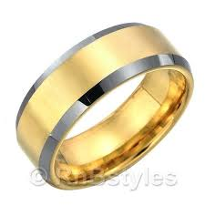 s tungsten wedding rings about stunning s tungsten wedding ring band two tone mm gold
