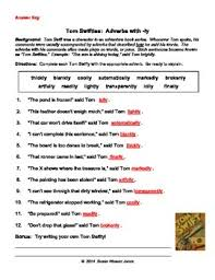 adverbs with ly tom swifties by susan weaver jones tpt