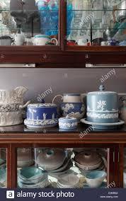 Kitchen Display Cabinet Wedgewood Jasper Arranged On Kitchen Display Cabinet Containing