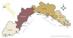 provinces of italy map map of liguria provinces and major cities wandering liguria