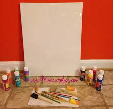 Remove Crayon From Wall by Easy Diy Canvas Wall Art Tutorials