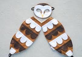 owl costume barn owl costume felt animal mask wool or eco felt mask