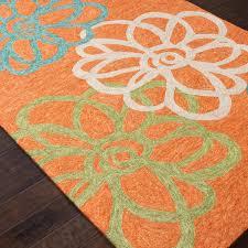 Orange Outdoor Rugs Jaipur Rugs Blossomed 3 X 5 Indoor Outdoor Rug Orange