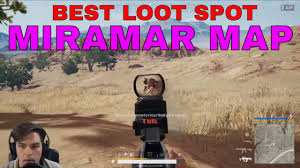pubg map loot holy loot the best loot spot in miramar pubg desert map youtube