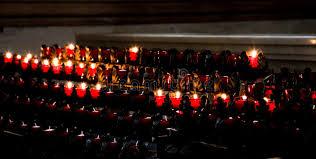vigil lights catholic church candles in catholic church stock image image of landmark 43200129