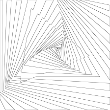 optical illusion coloring pages clipart