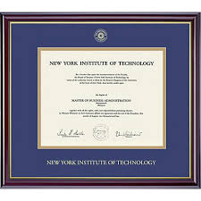 tech diploma frame new york institute of technology diploma frame nyit