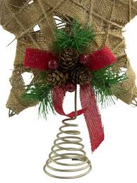 hessian jute 3d tree top decoration 30cm