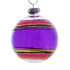 christopher radko purple glass ornament sbkgifts