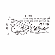 music note home decor creative home decor plane wall stickers english quotes music