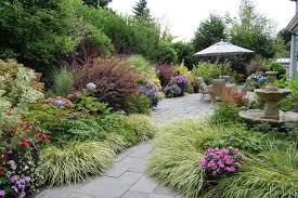 ornamental grass garden ideas landscape traditional with pink
