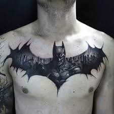 batman chest tattoo designs ideas and meaning tattoos for you