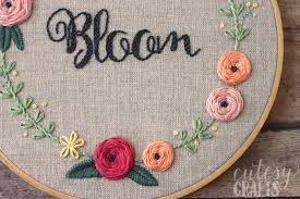 bloom embroidery pattern cutesy crafts