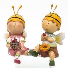 Bee Garden Decor Aliexpress Com Buy Cute Bee Boy Girl Home Decor Gift Toy Resin