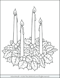 advent wreath coloring catholic eliolera